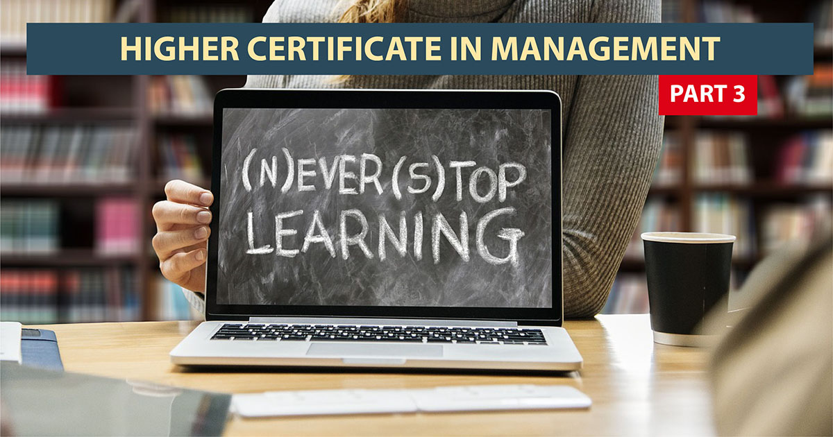 Higher Certificate in Management: Part III